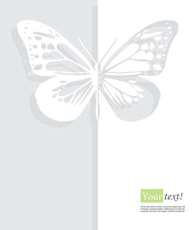 creative beauty: Card with butterfly with depth