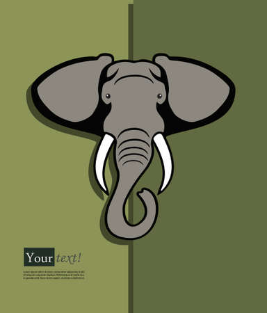 tiefe: Card with elephant head with depth