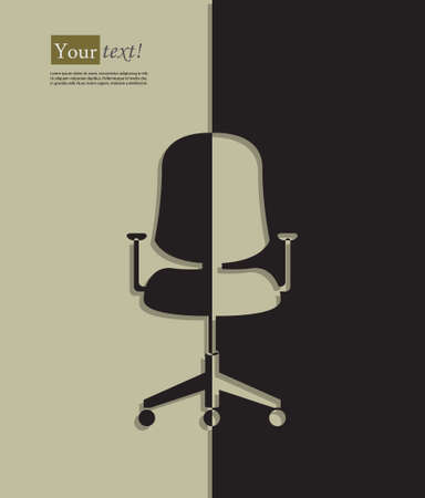 vacant: Background with office chair silhouette