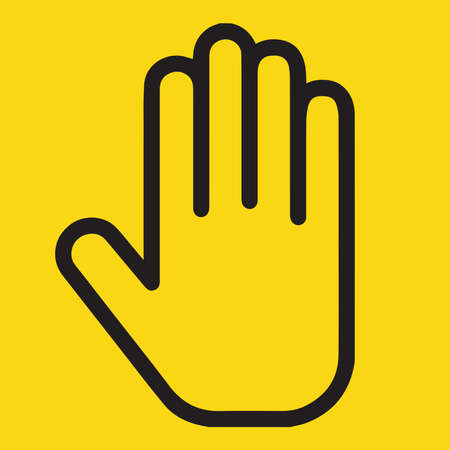 Stop, yellow warning sign, vector file