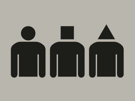 Different personalities, being different. concept vector, stick figures
