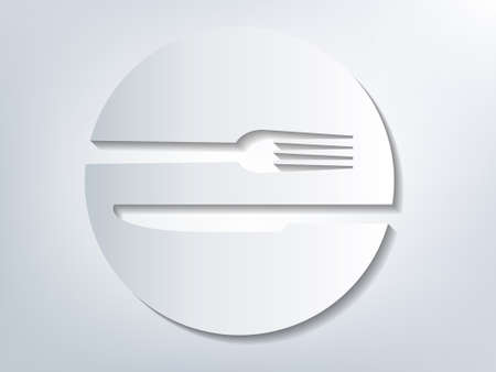Plate and cutlery with 3D effect