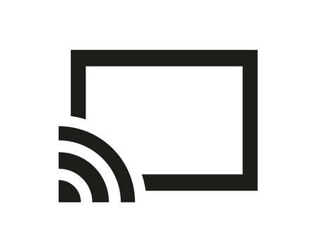 Cast icon, symbol for streaming media