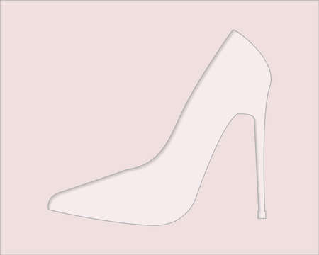 Stylish classic womens shoe, vector with copy-space
