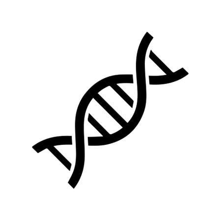 Simple DNA logo, Life gene model, bio code genetics molecule, medical symbols, chromosome icon, genetic sign