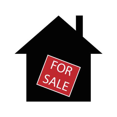 House for sale, minimalist vector illustration symbol Ilustração