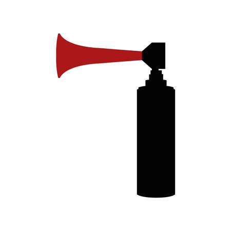 Air horn icon, minimalist vector illustration symbol