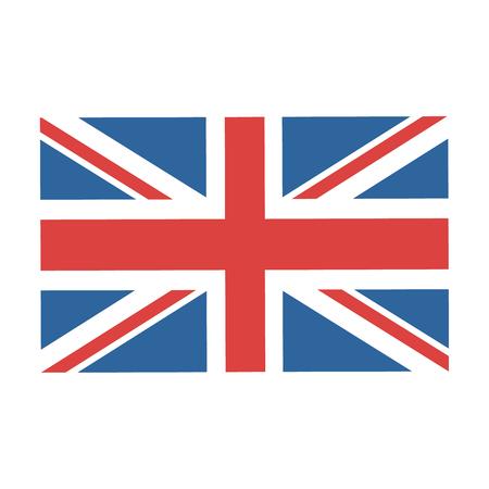 spangled: British flag on a white background Illustration