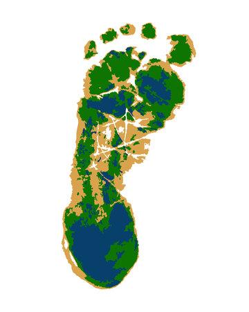 Human trace vector illustration