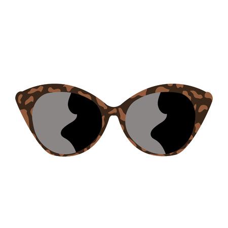 Sunglasses on white background vector Illustration