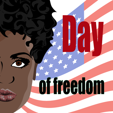 international day of the abolition of slavery in the United States, the day of freedom of slaves, vector illustration. Illustration