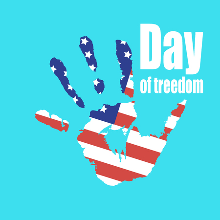 International day of the abolition of slavery in the United States, the day of freedom of slaves, vector illustration