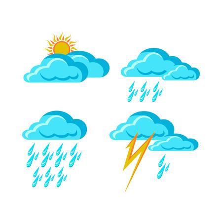 天気予報の標識