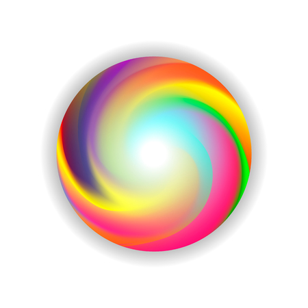 color ball, washing machine, rainbow ball, color circle, multi-colored gradient, vector illustration  イラスト・ベクター素材