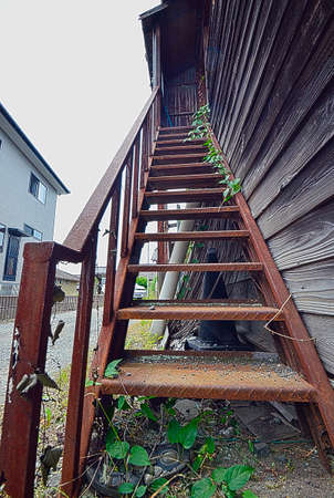 attic: japanese old stair