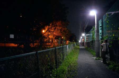 street at night in Osaka