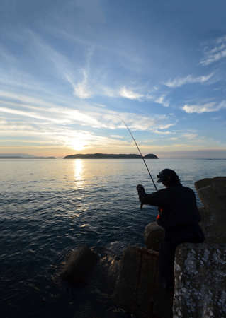 Angler in the wakayama Japan. 写真素材