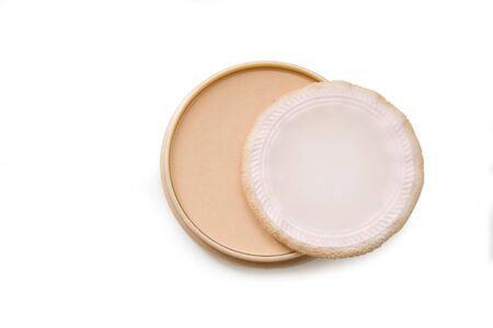 face powder isolated on the white photo