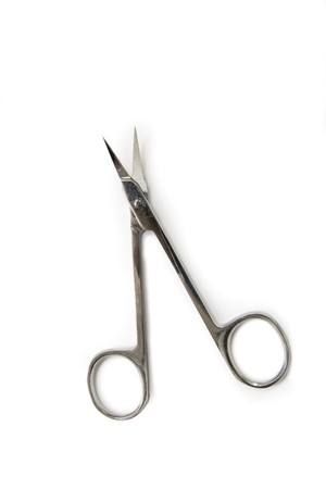nail scissors: Nail Scissors isolated on white