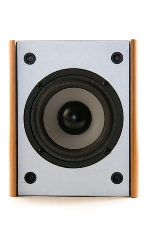 wooden audio speaker photo