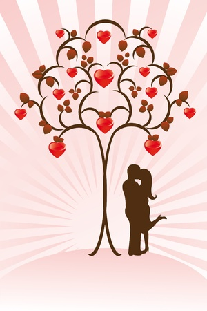 Valentine`s card Vector