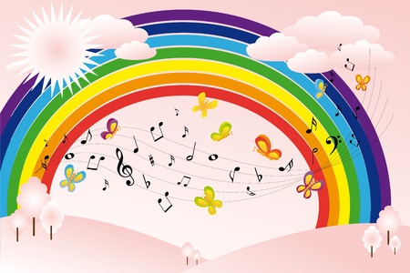 Music landscape Vector