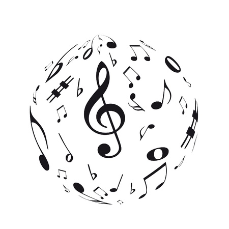 bass clef: Music sphere