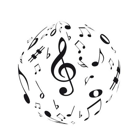 semiquaver: Sfera di musica Vettoriali