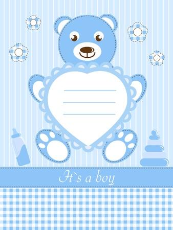 Baby Boy Dusche Einladungskarte