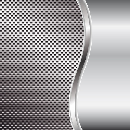 solid silver: Metal background for your design Illustration