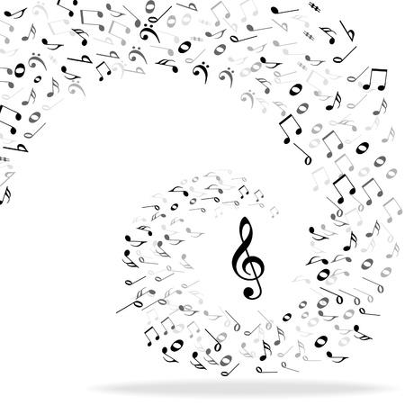 pentagrama musical: Fondo de notas de música Vectores
