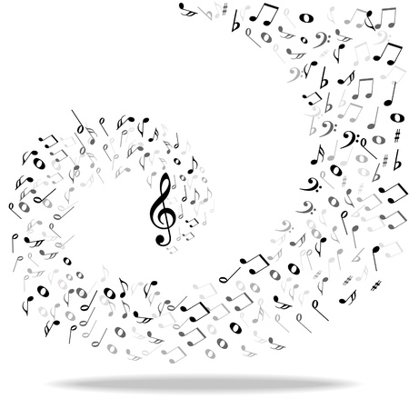 chord: Music notes background