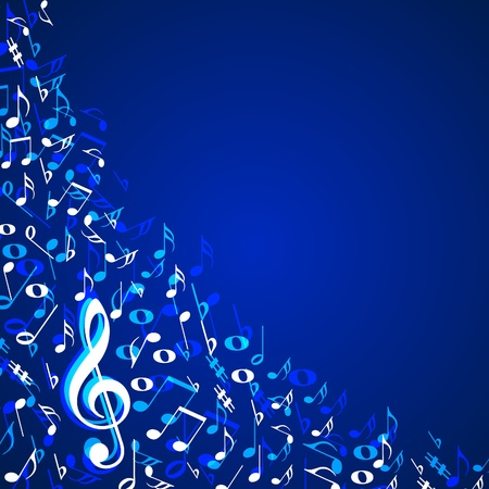 treble: Music notes background