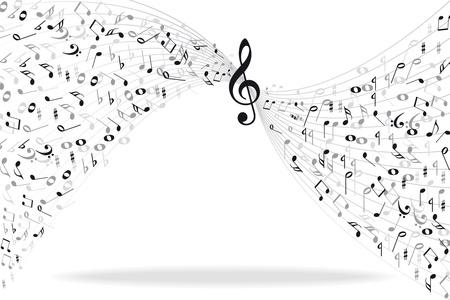 pentagrama musical: Notas de la música de fondo