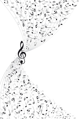 style sheet: Music notes background