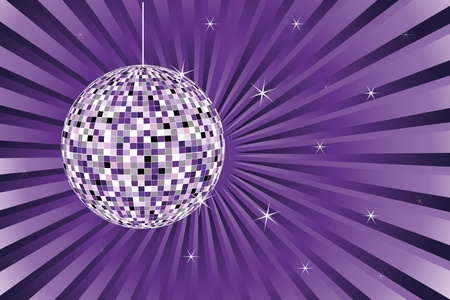 evening party: disco ball Illustration