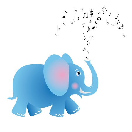 elephant icon: Musical elephant