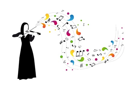 violinist plays the violin Stock Vector - 10555569