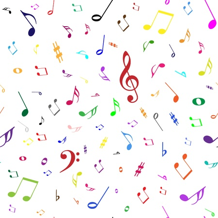 music sheet: notes seamless background