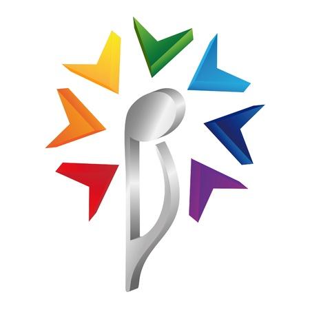 Logo music note is flower Stock Vector - 10555545