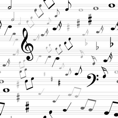 g clefs: misic seamless Illustration