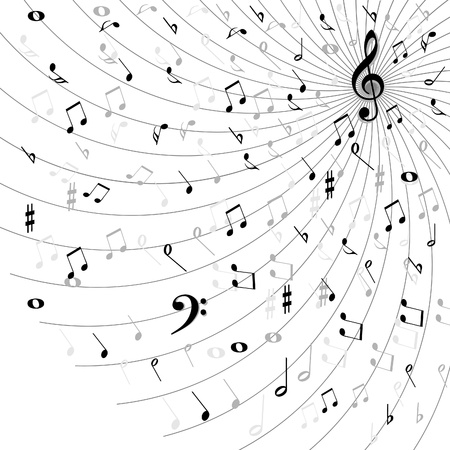 key signature: Music background