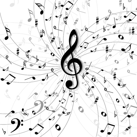 key signature: Music  background Illustration