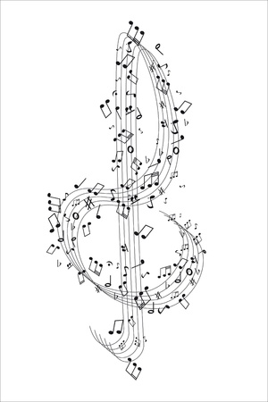 Treble Cleff and music notes