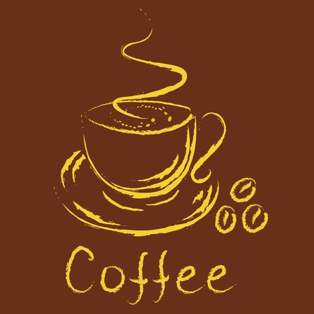 Logo - cup of coffee Vector