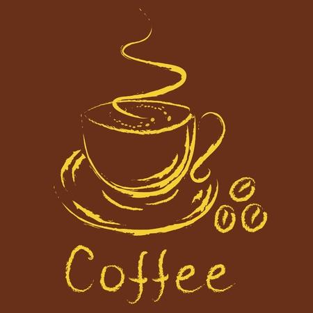 cappucino: Logo - kopje koffie