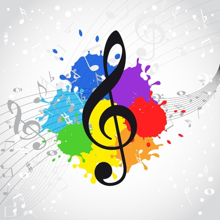 bass clef: Music color background