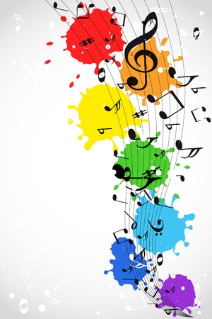 music abstract: Color music background