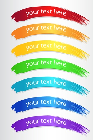 Set of color banners Vector