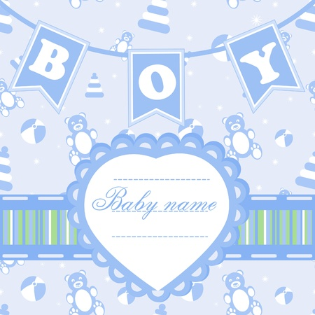 Posrcard for boy Vector
